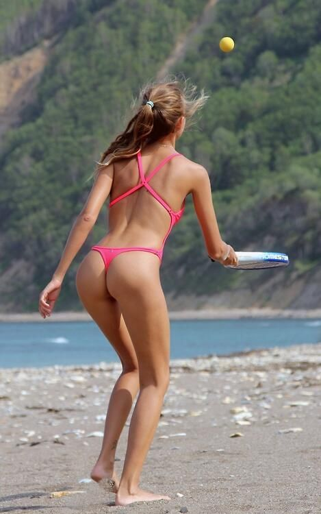 amateur women of all ages in string bikinis