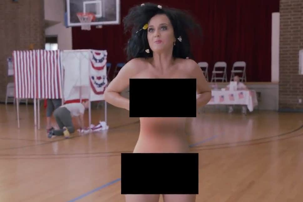 katty perry stripping naked