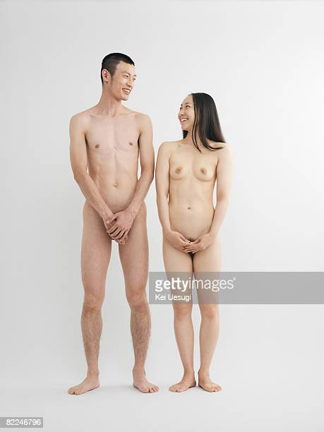 woman full nude standing asian